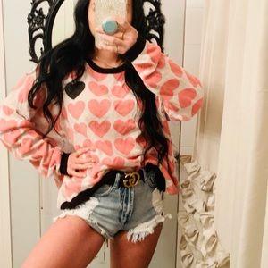 💝 ANTHROPOLOGIE NUMPH heart sweater